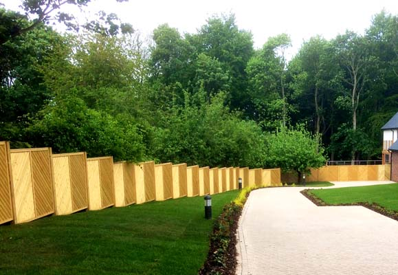 A long fence we erected at a new development in the Wakefield area.